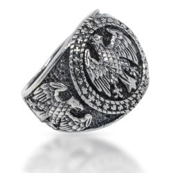 925 Sterling Silberring - Adlerwappen