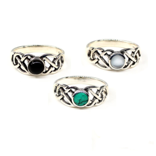 Emma Onyx Ring aus 925 Sterling Silber