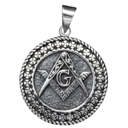 925 Sterling Silberanhänger - Freimauerer Zirkel G