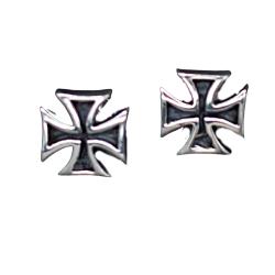 Silberohrstecker - Eisernes Kreuz