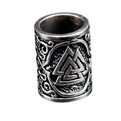 925 Sterling Silber Bartperle - Keltische Valknut