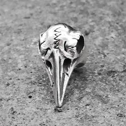 925 Sterling Silber Bartperle - Keltischer Rabenschädel