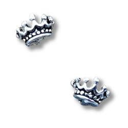 """Silberohrstecker Krone """"Majestät""""aus 925er..."""