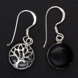 925 Sterling Silberanhänger - Shiva Auge mit Baum...