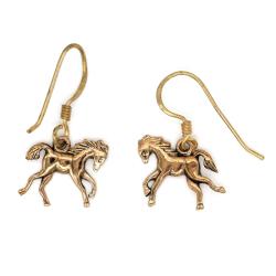 Bronzeohrringe - Pferde