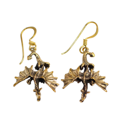 Bronze Ohrringe - Drachen