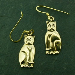 Bronze Ohrringe Katze