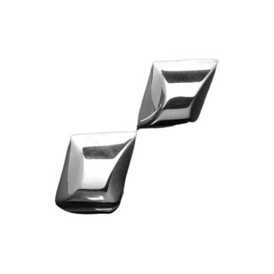 Silberohrringe - Ohrstecker Viereck abgerundet