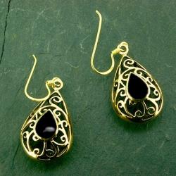 Bronze Ohrringe Onyx