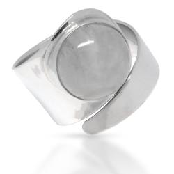925 Sterling Silberring - Mondstein
