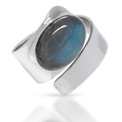 925 Sterling Silberring - Labradorite