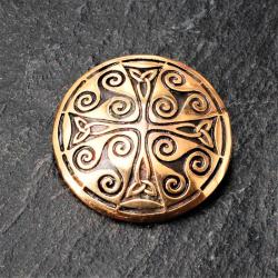 Bronze Brosche - Kreisförmig mit Ornament