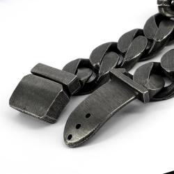 Edelstahl Panzerarmband schwarz