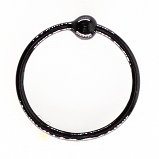925 Sterling Silver Nose Ring in PVD Black