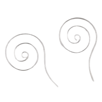 Silberohrringe Spirale