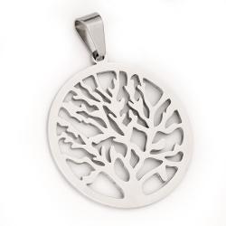 Edelstahlanhänger Lebensbaum