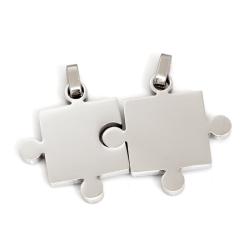 Edelstahlanhänger Puzzle Edelstahl
