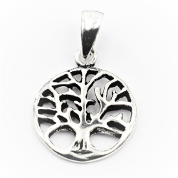925 Sterling Silberanhänger - Lebensbaum