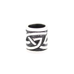 925 Sterling Silber Bartperle - Keltisches Tribal