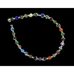 925 Sterling Silber Fußkettchen - Bunte Perlen