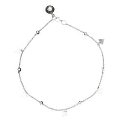 925 Sterling Silber Fußkettchen - Dreiecke