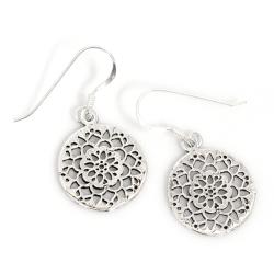 925 Sterling Silber Ohrhänger - Blumenmuster