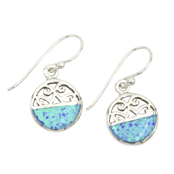 Ocean View Playa Norte With Synthetic Opal - 925  Silver...