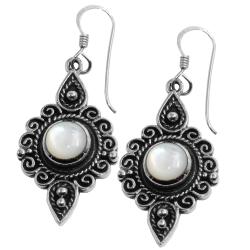 925 Sterling Silber Ohrringe mit Perlmutt
