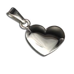 Edelstahlanhänger - Herz