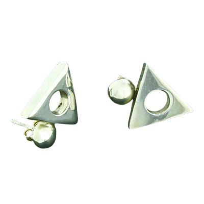 Silberohrringe - Ohrstecker Dreieck