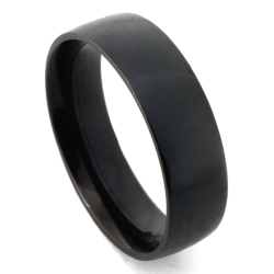 Edelstahlring - 7 mm mit schwarzer PVD-Beschichtung