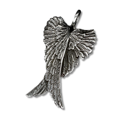 925 Sterling Silberanhänger - Doppelflügel /...