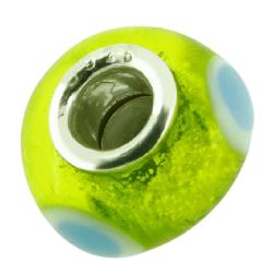 K Bead mit Sterlingsilber - neon grün mit...