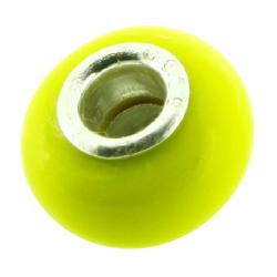 K Bead mit Sterlingsilber - zitronen gelb