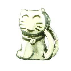 K Bead aus Sterlingsilber - Katze