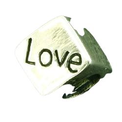 K Bead aus Sterlingsilber - Love