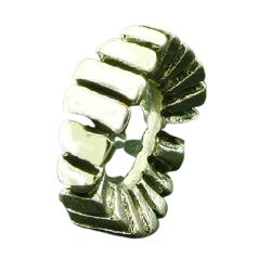 K Bead aus Sterlingsilber - Rundes Muster