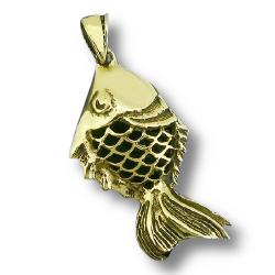 Bronzeanhänger - Fisch Koi