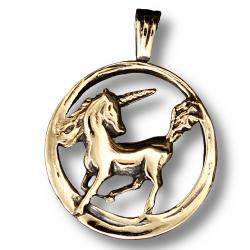 Einhorn - Bronzeanhänger