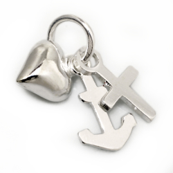 925 Sterling Silberanhänger  Glaube - Liebe - Hoffnung