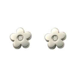 Edelstahlohrring- Blumen