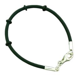 Vinylband mit Silberverschluss - Armband / Kette