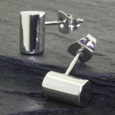 Edelstahlohrring - Zylinder