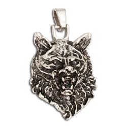 Wolfskopf aus Edelstahl