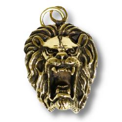 Bronzeanhänger- Löwenkopf
