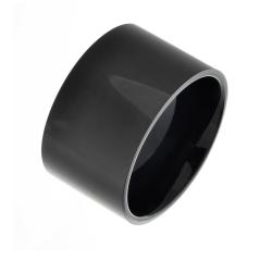 Edelstahlring - 12 mm mit schwarzer PVD-Beschichtung