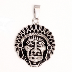 Edelstahlanhänger - Indianer