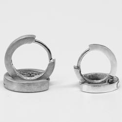 Silberohrringe - Klappcreolen