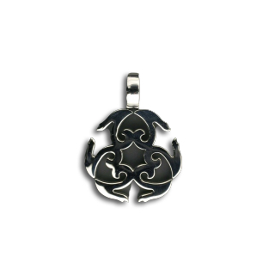 Edelstahlanhänger- Ornament