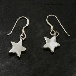 Silberohrringe - Hangings Sterne